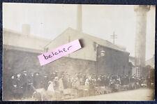 More details for 1912 workington coal strike stanley street queue at coke ovens rp postcard