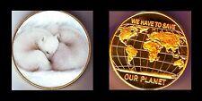 ● GROSSE MEDAILLE / MONNAIE PLAQUE OR AVEC DES OURS POLAIRES  ●