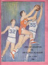 1/02/1964  AIR FORCE @  HOUSTON COUGARS  HOOPS  PROGRAM