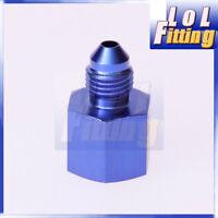 AN-10 AN10 Female to AN-8 AN8 Male Reducer Straight Adapter Aluminum Blue