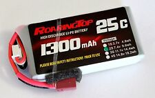 RoaringTop LiPo Battery Pack 25C 1300 mAh 2S 7.4V with Deans Plug