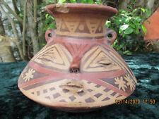 Antique ~ Pre Columbian ~NARINO ~ Human Face Effigy ~Polychrome ~ Water Olla POT