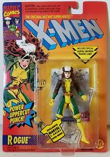 ToyBiz 1994 Marvel X-Men ROGUE Power Uppercut Punch W/Trading Card