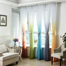 100x200cm Ramp Color Curtain Living Room Gauze Drape Home Window Decor Mystic