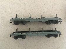 Hornby Dublo Bogie Bolster Wagons x 2