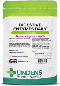 Lindens Digestive Enzymes Daily 90 Tablets Digestion Healthy Gut