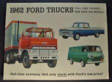 1962 Ford Truck Brochure F-100 Pickup Ranchero Econoline Van Stake COE Original