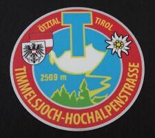 Timmelsjoch-hochalpenstraße sticker total length tirol souvenir stickers