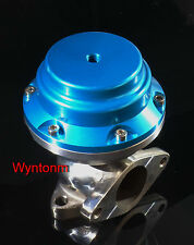 38MM 10 PSI External Wastegate Turbo Stainless Steel Dump Valve Anodized Blue II
