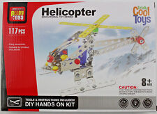Helicopter Erector Set By Totally Cool Toys Educational 117 Pieces w/ Tools