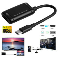 USB-C Type C to HDMI Black Adapter USB 3.1 Cable For MHL Android Phone Tablet TV