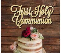 First Holy Communion glitter cake topper,  christening, baptism, LASER CUT