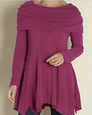 SOFT SURROUNDINGS B'Call Tunic Top Sweater Magenta Pink Cowl Neck #35027 Sz MP