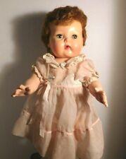 "Vintage 15"" Tiny Tears American Character Doll Hair Original Dress"