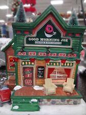 "NEW 2017 Lemax Christmas Village ""Good Morning Joe Coffee Shop House"" Tea NIB"