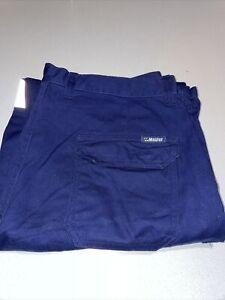BNWOT Mens Master Work Workwear Pants Size 97R Or 38 Inch 100% Cotton Reflective