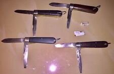 4 Vintage Jack Knives Pocket Folding Camillus Etc.