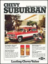 1974 Chevrolet Suburban Vintage Advertisement Print Art Car Ad J663A