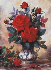 "NEW Cross Stitch Kits DMC""Williams flowder-red rose"""