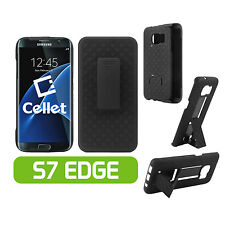 Cellet Shell Holster Kickstand Combo Case for Samsung Galaxy S7 Edge