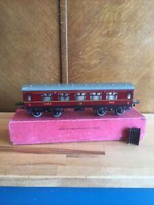 Hornby Series No.2 corridor coach LMS 3888 Composite O Gauge Tinplate Boxed