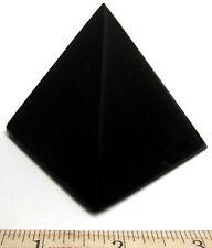 Obsidian Pyramid 67mm 266g (Discounted for Chip) Black Healing Gemstone Crystal