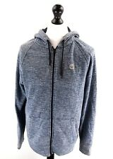 HOLLISTER Mens Hoodie Jacket M Medium Blue Cotton & Polyester