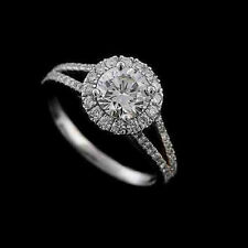With 3.00Ct Round White Moissanite Antique Forever Women Engagement Wedding Ring