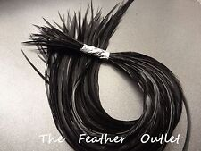Lot 20 Solid Feathers Hair Extensions saddle Natural Furnace Black