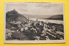 AK Braubach 1919 Ortsansicht Bahnhof Bahnanlagen Straßen Häuser Marksburg   RP13