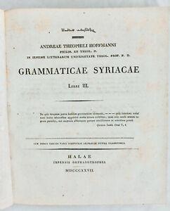 Langues anciennes - Syriaque - Grammaire - Linguistique - Latin