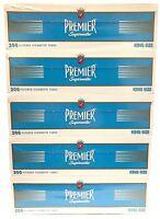 Premier Light Blue King Size KS Filtered Cigarette Tubes - 5 Boxes (1000 tubes)