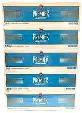 Premier Light Blue King Size Filtered Cigarette Tubes - 5 Boxes (1000 tubes)