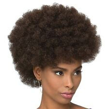Stylish Black Brown Capless Fluffy Afro Curly Short Wig Hair For Women