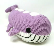 "Amigurumi Whale Plush Stuffed Animal Crochet Handmade Large 15"""