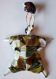"""Poupee Millet"" Porcelain and Fabric Art Doll"