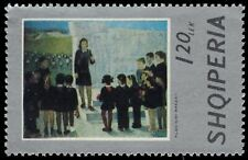 "ALBANIA 1611 (Mi1727) - ""Teacher with Pupils"" by Kleo Nini Brezat (pa62389)"