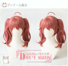 Hot Anime DARLING in the FRANXX MIKU 390 Cosplay Dark Red Full Wig Long Hair