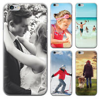 PERSONALISED CUSTOM PHOTO IMAGE PHONE CASE FOR APPLE IPHONE CLEAR HARD COVER