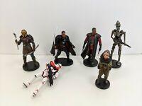 Lot Of 6 Disney Star Wars Mandalorian Figurines IG-11 Armorer Kuiil Please Read