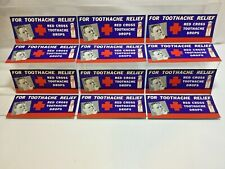 12 VINTAGE BLOTTERS - RED CROSS TOOTHACHE RELIEF cl