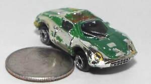Small Micro Machine Ferrari 246 Convertible GTS in Silver (Color) & Green Trim