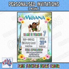 MOANA - Personalised Birthday Party Invitations / Invites Party Supplies