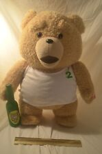 """Ted 2 Talking Plush Teddy Bear in white Sleeveless 24"""" R Rated for Adults NWT"""