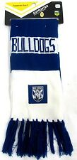 65075 CANTERBURY BULLDOGS NRL TEAM LOGO ACRYLIC CLOTH PATCH BAR SCARF