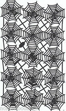 Halloween Spider Web Black Embossed Paper Open Germany Sheet Spooky Atc Collage