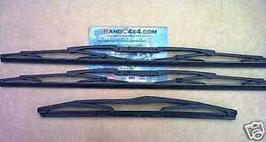 Land Rover Discovery 2 TD5 V8 Windscreen Wiper Blade Set Front & Rear