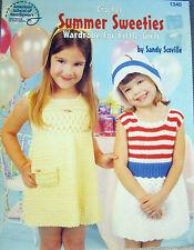 SAVE 30%  LITTLE GIRLS SUMMER SWEETIES CROCHET WARDROBLE by AMER SCHOOL NDLWRK