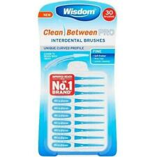 Wisdom Clean Between Pro Interdental Brushes Blue Fine 1 Pack Of 30