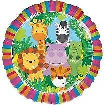 "18"" Jungle Friends Animals Happy Birthday Helium Foil Balloon Party 35786"
